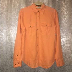 3/$25 Ralph Lauren long sleeve linen shirt Small